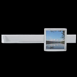 Loch Raven Reservoir Custom Silver Finish Tie Bar