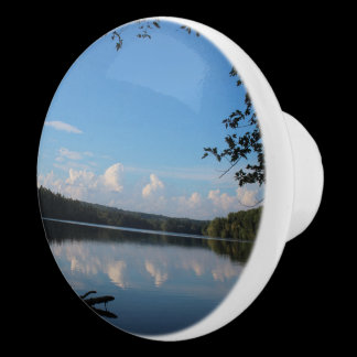 Loch Raven Reservoir Reflections Custom Ceramic Knob
