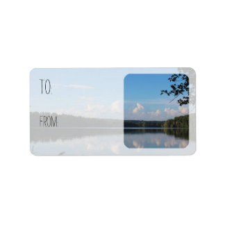 Loch Raven Reservoir Riverscape Gift Tags Sheets