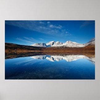 Loch Slapin - winter calm in Scotland Poster