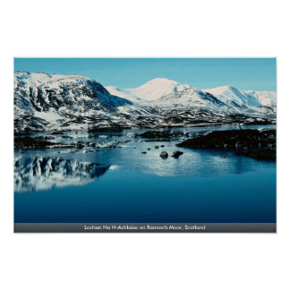 Lochan Na H-Achlaise on Rannoch Moor, Scotland Posters