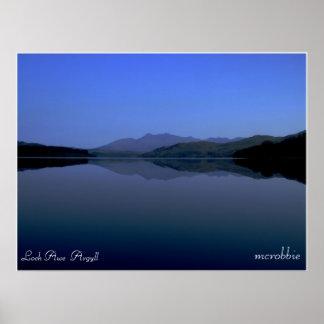 lochawereflection2, Loch Awe  Argyll, mcrobbie Poster