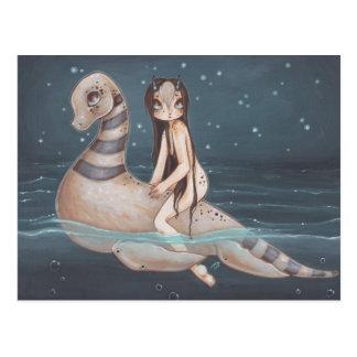 Lochness fantasy fairy gothic art postcard