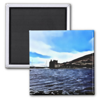 Lochranza Castle and Boats Magnet