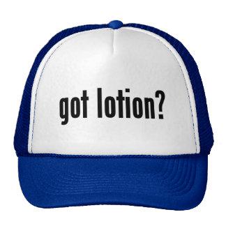 ¿loción conseguida? gorra
