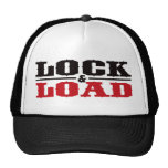 Lock and Load - Black and Red Trucker Hat
