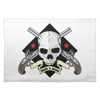 Lock and Load Skull Placemat