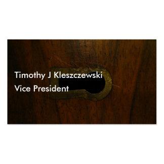 Lock box treasure chest design business card