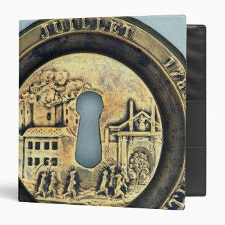 Lock depicting the Siege of the Bastille Binder