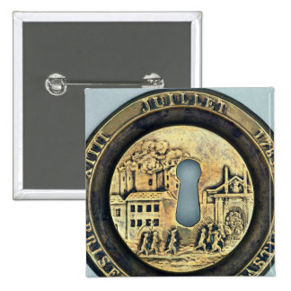 Lock depicting the Siege of the Bastille Pinback Button