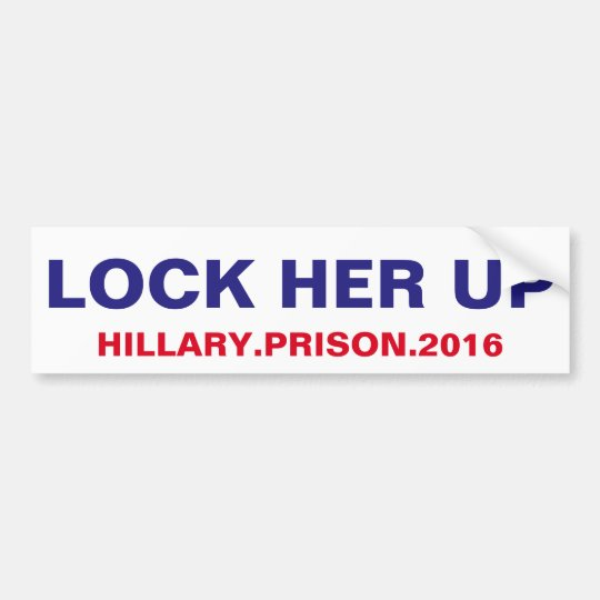 Lock her up bumper sticker