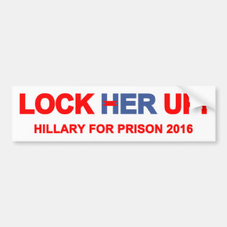 Lock Her Up Hillary For Prison Bumper Sticker