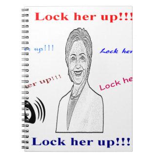 Lock her up spiral notebook