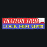 "Lock Him Up Bumper Sticker<br><div class=""desc"">Bumper Sticker,  Traitor Trump,  Lock Him Up</div>"