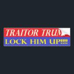 """Lock Him Up Bumper Sticker<br><div class=""""desc"""">Bumper Sticker,  Traitor Trump,  Lock Him Up</div>"""