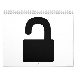 Lock icon calendars