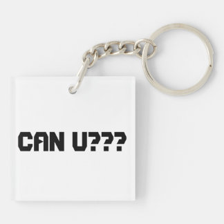 lock square acrylic key chains