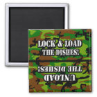 Lock & Load Dishwasher Magnet