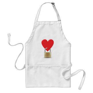 Lock locked heart heart closed PAD LOCK Apron