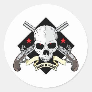 Lock n Load Skull Sticker