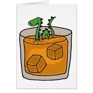 Lock Ness Monster in Scotch Whiskey Glass Cards