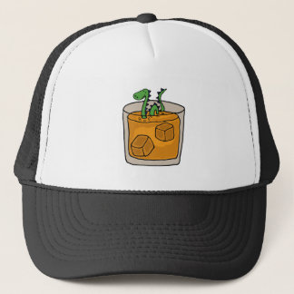 Lock Ness Monster in Scotch Whiskey Glass Trucker Hat
