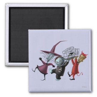 Lock, Shock, and Barrel 1 2 Inch Square Magnet
