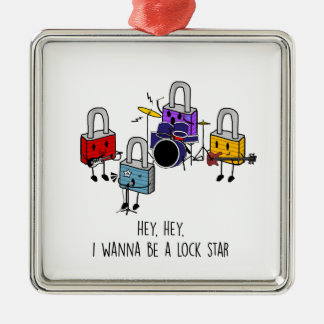 Lock Stars Metal Ornament