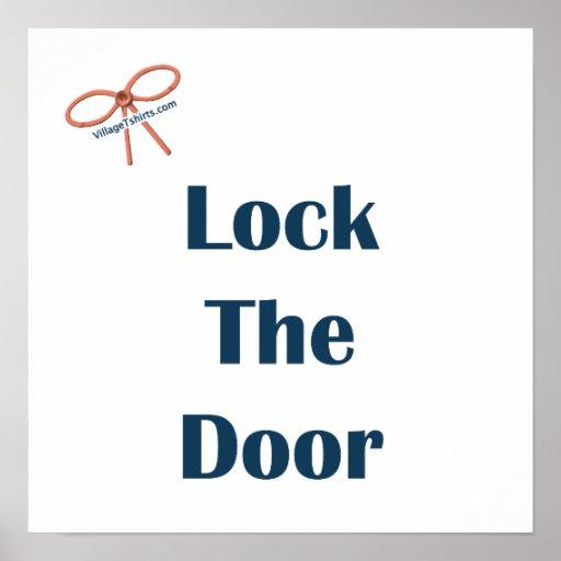 Lock The Door Reminders Print