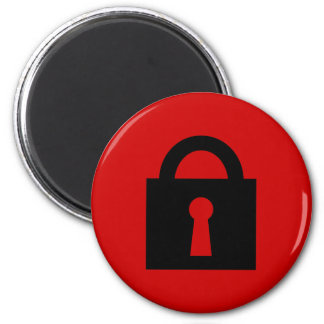 Lock. Top Secret or Confidential Icon. 2 Inch Round Magnet