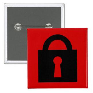Lock. Top Secret or Confidential Icon. Button