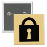 Lock. Top Secret or Confidential Icon. Buttons