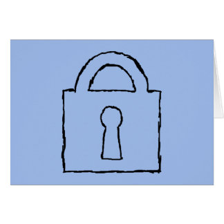 Lock. Top Secret or Confidential Icon. Greeting Card