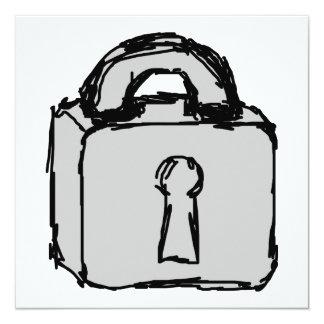 Lock. Top Secret or Confidential Icon. Card