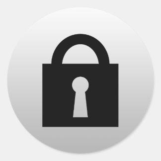 Lock. Top Secret or Confidential Icon. Classic Round Sticker