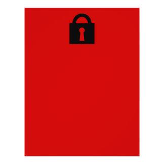 Lock. Top Secret or Confidential Icon. Flyers