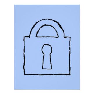 Lock. Top Secret or Confidential Icon. Full Color Flyer