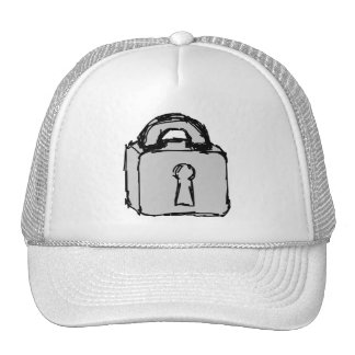 Lock. Top Secret or Confidential Icon. Mesh Hats
