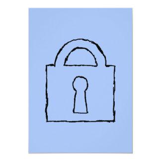 Lock. Top Secret or Confidential Icon. 5x7 Paper Invitation Card