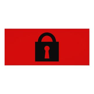 Lock. Top Secret or Confidential Icon. 4x9.25 Paper Invitation Card