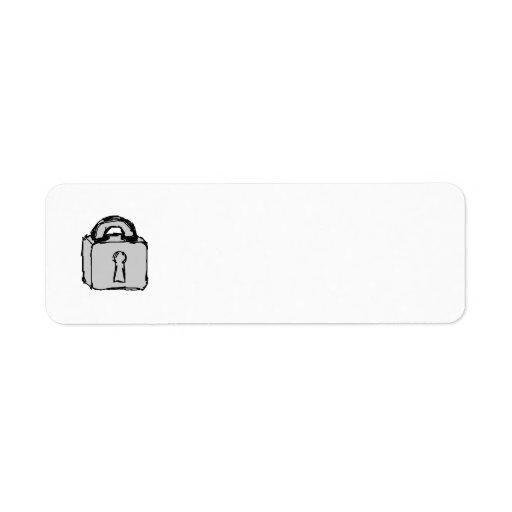 Lock. Top Secret or Confidential Icon. Custom Return Address Labels