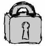 Lock. Top Secret or Confidential Icon. Photo Sculptures