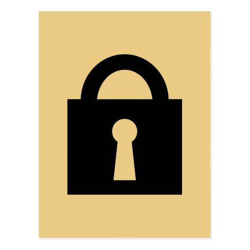 Lock. Top Secret or Confidential Icon. Postcard