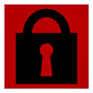 Lock. Top Secret or Confidential Icon. Poster