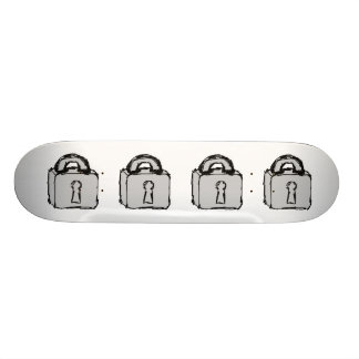 Lock. Top Secret or Confidential Icon. Custom Skate Board