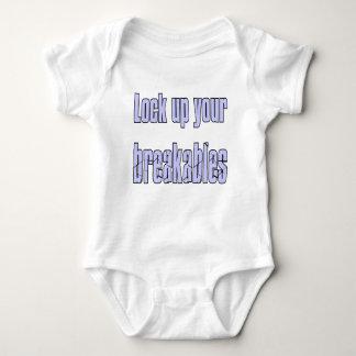 LOCK UP YOUR BREAKABLES BABY BODYSUIT