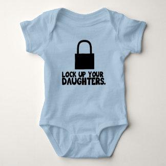 Lock up your daughters baby bodysuit