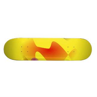 Lock Yellow Skate Board