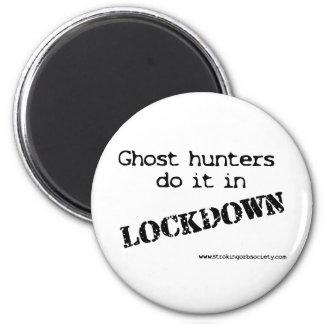 Lockdown de los cazadores del fantasma imán redondo 5 cm