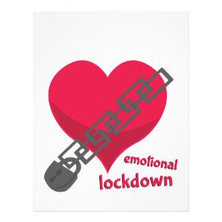 Lockdown emocional membrete a diseño